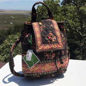 Vera Bradley Chocolat Mimi Backpack NWT Brown